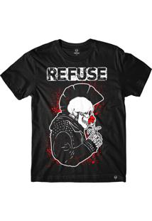 Camiseta Refuse Punk In Love - Preta