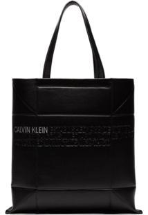 Calvin Klein 205W39Nyc Bolsa Tote De Couro Pequena - Preto