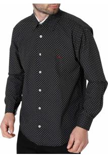 Camisa Manga Longa Mx72 Preto