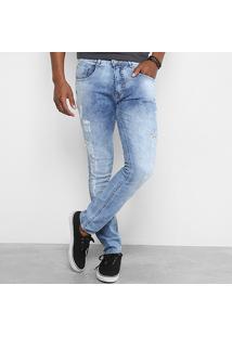 Calça Jeans Skinny Biotipo Destroyed Masculina - Masculino