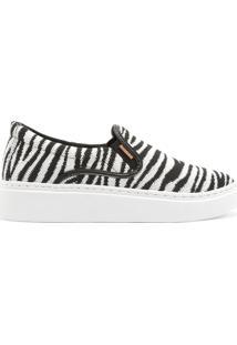 Tênis Duda Slip On Knit Zebra   Anacapri