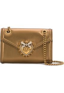 Dolce & Gabbana Bolsa Tiracolo Devotion Mini - Dourado