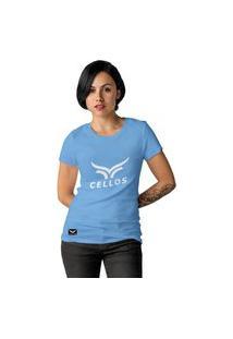 Camiseta Feminina Cellos Classic Ii Premium W Azul Claro