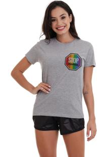 Camiseta Basica Joss Lgbt Stop Logomescla - Kanui