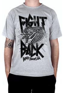 Camiseta Bleed American Fight Back Cinza Mescla
