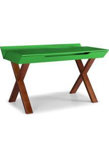 Escrivaninha Studio Cor Cacau Com Verde - 28950 Sun House