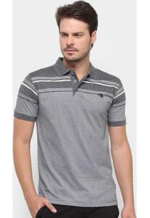 Camisa Polo Gajang Listrada Masculina - Masculino-Preto