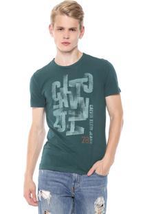 Camiseta Calvin Klein Jeans Embaralhado Verde