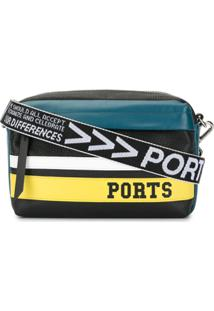 Ports V Bolsa Tiracolo Listrada Com Logo - Estampado