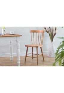 Cadeira De Madeira Para Sala De Jantar Folk Verniz Jatobá 45X46X83Cm