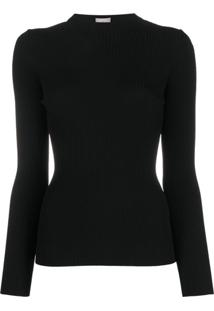 Mrz Ribbed Cut-Out Top - Preto