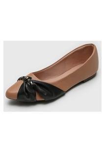 Sapatilha Dafiti Shoes Bicolor Nude