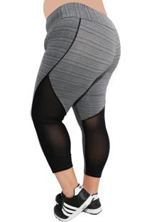 Calça Legging Fitness Corpusfit Freak Plus Size - Grafiatto