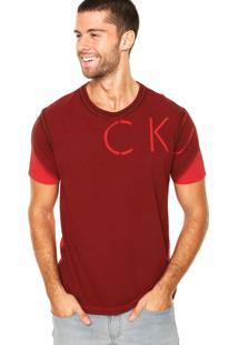 Camiseta Calvin Klein Jeans Recorte Vermelha