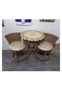 Conjunto De Mesa Com Cadeiras Mosaico Bege