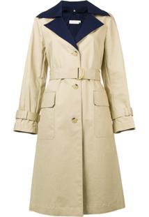 Farfetch. Sobretudo Tory Burch Feminino Nude Bege Trench Coat ... 6e4b36e5219
