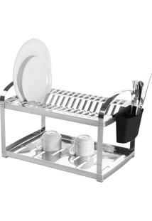 Escorredor De Pratos Brinox Inox Para 16 Unidades Prata