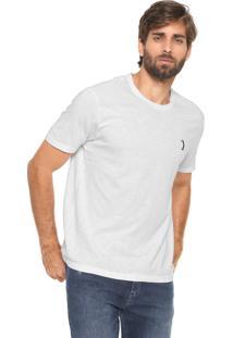 Camiseta Aleatory Reta Botone Branca