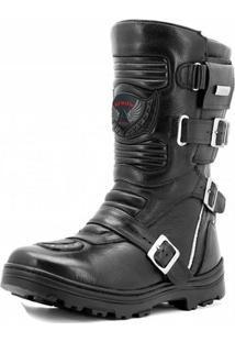 Bota Atron Shoes Motociclista - Masculino-Preto