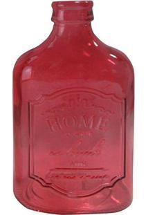 Garrafa Decorativa Home- Vermelha- 7X21X12,4Cmurban