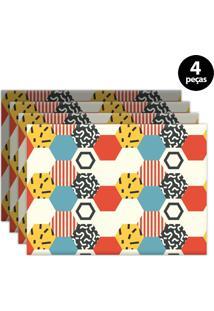 Jogo Americano Mdecore Geométrico 40X28Cm Bege 4Pçs