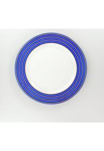 Conjunto De Pratos Rasos Porcelana Schmidt 06 Peças - Dec. Paula