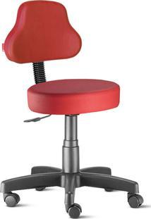 Cadeira Mocho Vermelho Plus Giratória