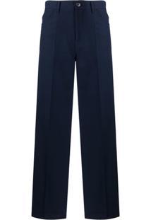 Jil Sander Calça De Alfaiataria Com Modelagem Solta - Azul