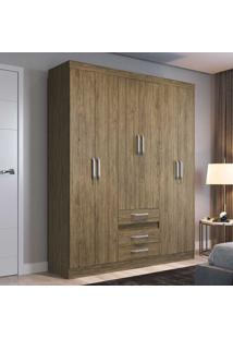 Guarda-Roupa Casal 6 Portas 3 Gavetas Rp3630 Wood - Decibal Móveis