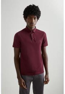 Camisa Polo Reserva Pala Interna Masculino - Masculino-Bordô