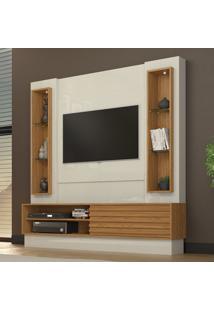Painel Para Tv Até 42 Polegadas Tb138L 100% Mdf Off White/Freijó - Dalla Costa