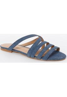 Sandália Rasteira Com Tiras - Azulluiza Barcelos
