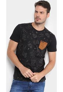 Camiseta Gangster Estampada Bolso Masculina - Masculino