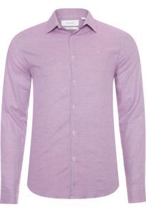 Camisa Masculina Slim Xadrez Tricolor Monte Carlo - Vermelho