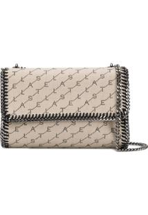 Stella Mccartney Bolsa Transversal Fallabella Monogram - Neutro