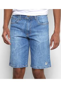 Bermuda Jeans Hang Loose 5 Pockets Hl Masculina - Masculino-Azul