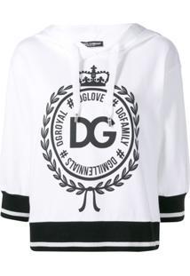 Dolce & Gabbana Blusa De Moletom Com Estampa De Logo - Branco