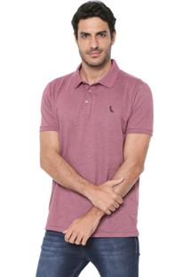 Camisa Polo Reserva Reta Twist Vinho