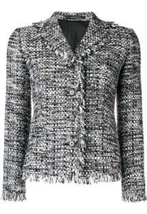 Tagliatore Structured Tweed Jacket - Cinza