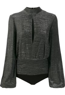 Dondup Metallic Long Sleeve Body - Preto