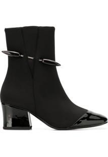 Dorateymur Ankle Boot Com Cap Toe Contrastante - Preto