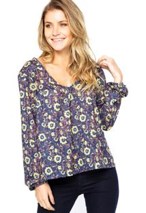 Blusa Manga Longa Billabong Eternal Winter Azul