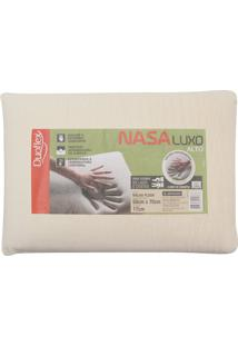 Travesseiro Duoflex Viscoelástico Nasa Luxo 50X70 Bege