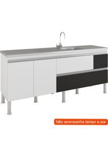 Balcão De Cozinha Prisma 3 Pt 3 Gv Branco E Preto