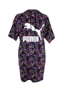Vestido Puma Aop Summer Hooded - Adulto - Preto/Rosa