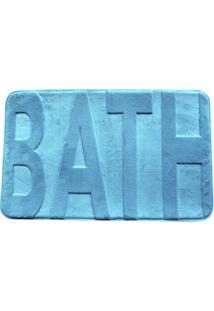 Tapete Para Banheiro Bath Azul Turquesa