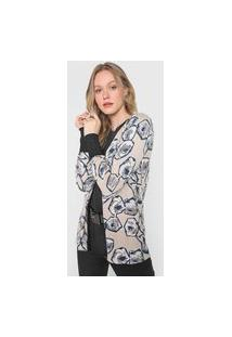 Cardigan Tricot Bobstore Floral Bege