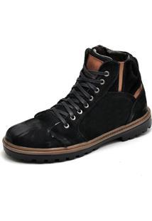 72b61709b1 ... Bota Coturno Em Couro Top Franca Shoes Preto