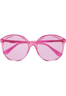 24c37e885 R$ 1276,00. Farfetch Gucci Eyewear Óculos De Sol Redondo - Rosa