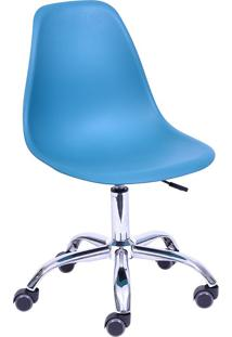 Cadeira Para Escritório Com Rodízio 1102R-Or Design - Azul Petróleo